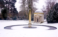 Snow at Chiswick House